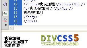 html加粗实例图