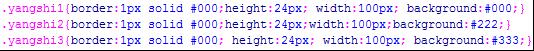 未优化CSS代码