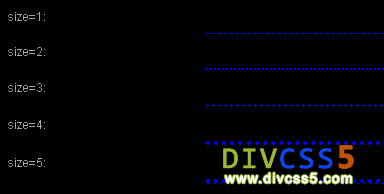 DIV+CSS水平分割虚线样式图