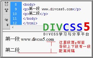html p段落标签演示截图