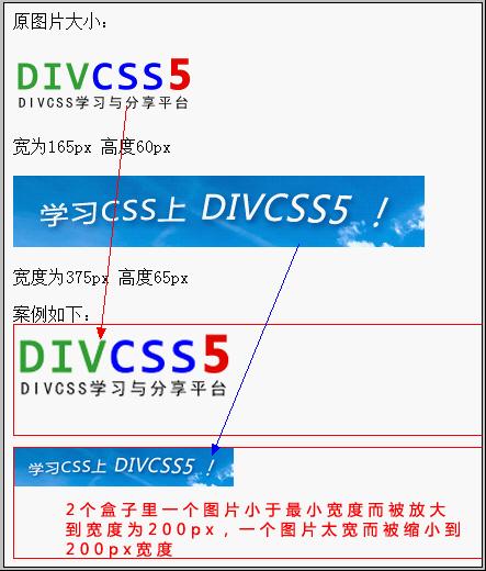 css div最小宽度最大宽度min-width max-width用法案例截图
