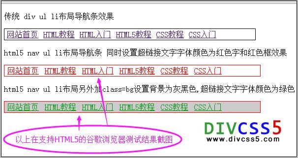 ul in html5